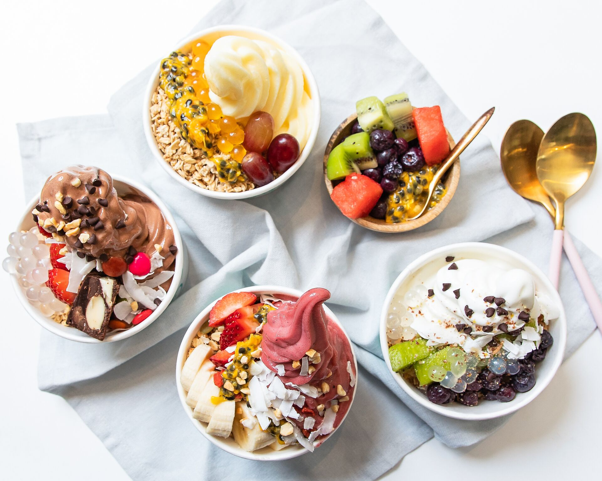 Great hero shot of frozen yoghurt at Yoflo